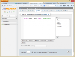PHPMyAdmin-table-sql